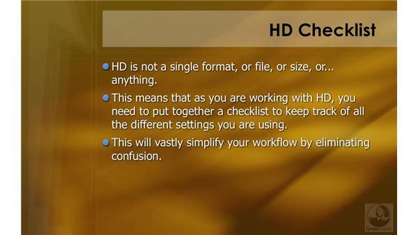 HD checklist: HD Workflows with Final Cut Studio 2