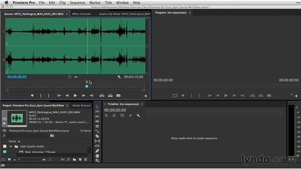 Creating subclips prior to merging: Premiere Pro Guru: Sync Sound Workflow