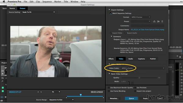 Baking new clips from synced shots: Premiere Pro Guru: Sync Sound Workflow