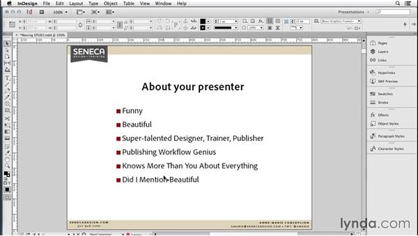 165 Five InDesign Presentation tips: InDesign Secrets