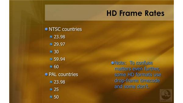 Frame rates: HD Workflows with Final Cut Studio 2