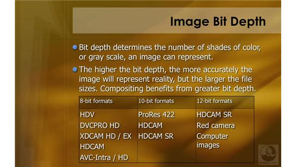 Image bit depth: HD Workflows with Final Cut Studio 2