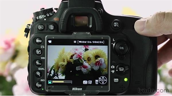 Playing back video: Up and Running with the Nikon D600 and D610