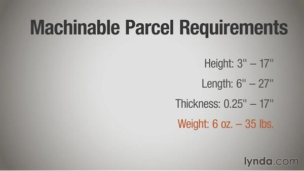 Guidelines for machinable parcels: Print Production Essentials: Direct Mail