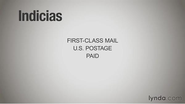The mailing indicia: Print Production Essentials: Direct Mail