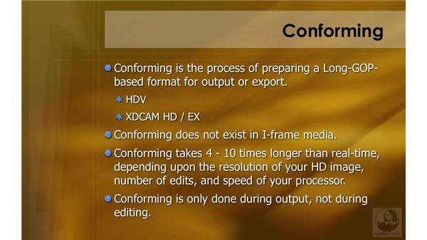 Conforming: HD Workflows with Final Cut Studio 2