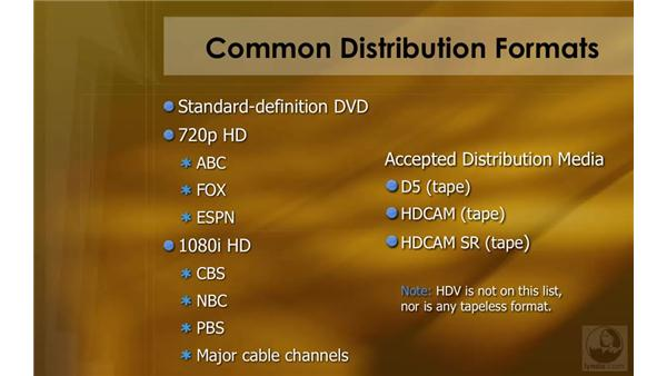 Common distribution formats: HD Workflows with Final Cut Studio 2