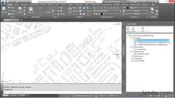 Attaching source drawings: AutoCAD Map 3D Essential Training