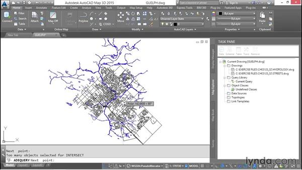 Performing location queries: AutoCAD Map 3D Essential Training