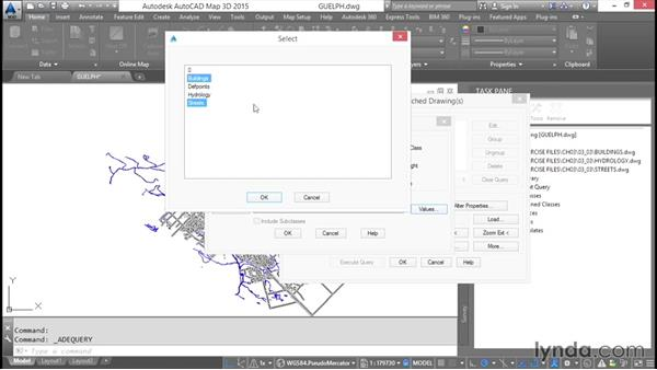 Performing property queries: AutoCAD Map 3D Essential Training
