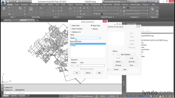 Performing object data queries: AutoCAD Map 3D Essential Training