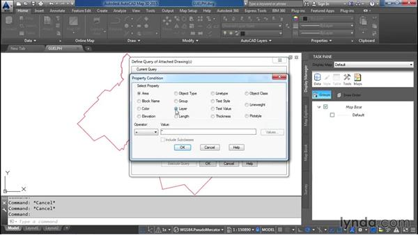 Adding drawing data in Display Manager: AutoCAD Map 3D Essential Training