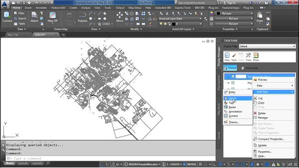 Styling drawing data in Display Manager: AutoCAD Map 3D Essential Training