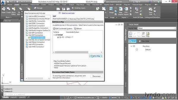 Connecting to file-based vector data: AutoCAD Map 3D Essential Training
