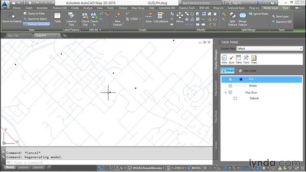 Stylizing vector layers: AutoCAD Map 3D Essential Training
