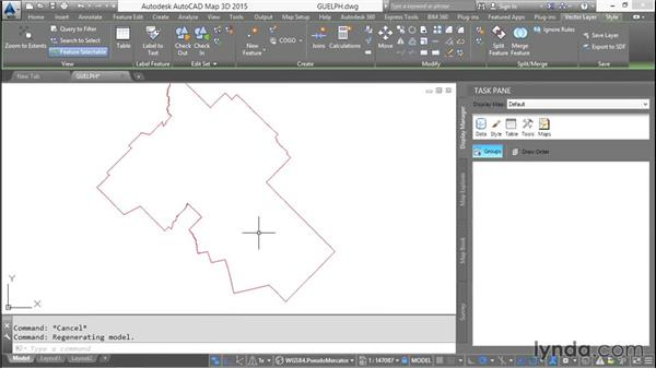 Adding scale dependence: AutoCAD Map 3D Essential Training
