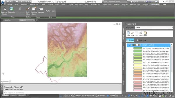 Stylizing raster layers: AutoCAD Map 3D Essential Training