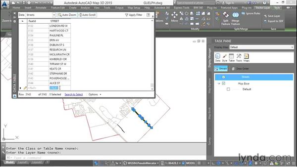 Adding existing AutoCAD Objects: AutoCAD Map 3D Essential Training