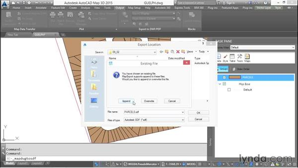 Loading existing AutoCAD objects: AutoCAD Map 3D Essential Training