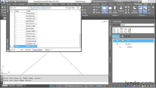 Drawing new features from scratch: AutoCAD Map 3D Essential Training