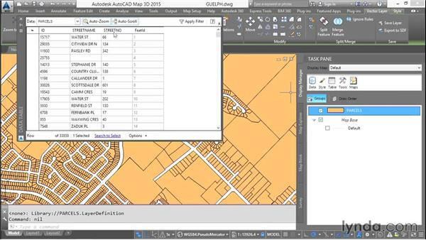Understanding GIS joins: AutoCAD Map 3D Essential Training