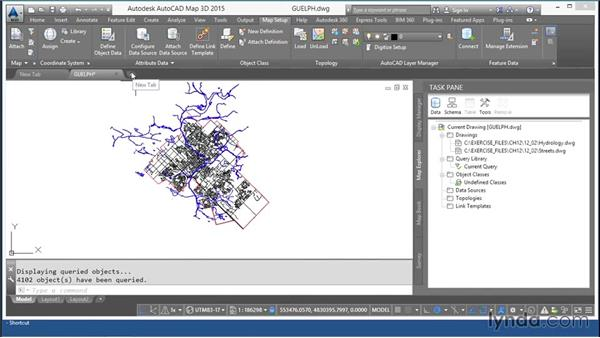 Reprojecting AutoCAD data: AutoCAD Map 3D Essential Training