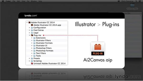 Downloading and installing the free plugin: Design the Web: Illustrator to Animated HTML5 Canvas