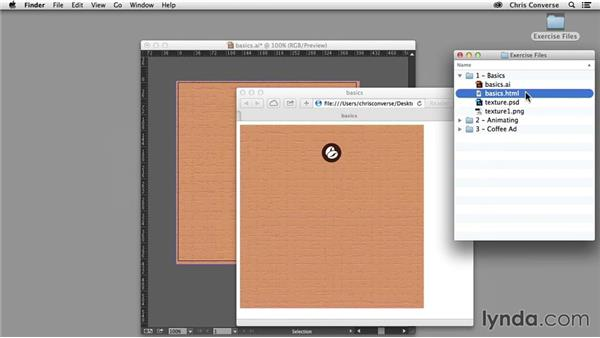 Exporting vectors and bitmaps: Design the Web: Illustrator to Animated HTML5 Canvas