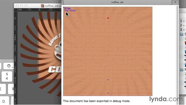 Using the debugging tool: Design the Web: Illustrator to Animated HTML5 Canvas