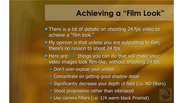 """Achieving a """"film look"""": HD Workflows with Final Cut Studio 2"""
