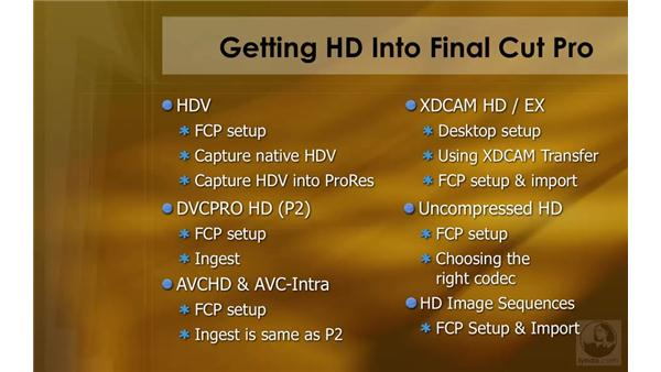 Overview: HD Workflows with Final Cut Studio 2