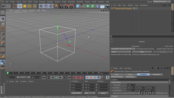 Creating a container: TurbulenceFD for CINEMA 4D Essential Training