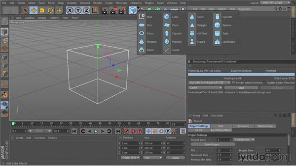 Creating an emitter: TurbulenceFD for CINEMA 4D Essential Training