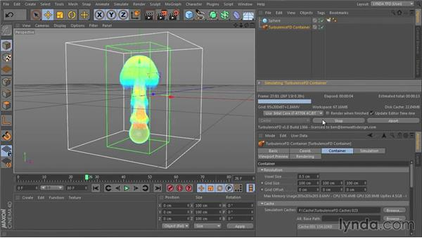 Choosing between CPU vs. GPU for simulation: TurbulenceFD for CINEMA 4D Essential Training