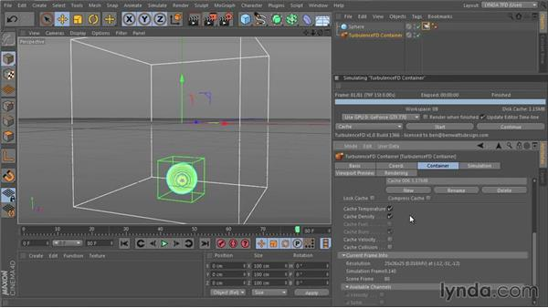 Choosing channels to simulate: TurbulenceFD for CINEMA 4D Essential Training