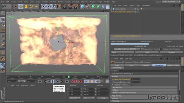 Understanding the Solver settings: TurbulenceFD for CINEMA 4D Essential Training