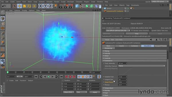 Adding detail and randomness with Turbulence: TurbulenceFD for CINEMA 4D Essential Training