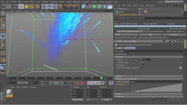 Understanding particle emission intensity: TurbulenceFD for CINEMA 4D Essential Training
