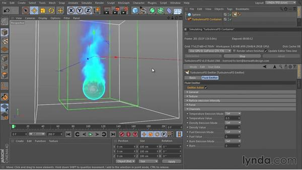 Understanding emission channels: TurbulenceFD for CINEMA 4D Essential Training