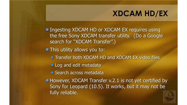 Capturing XDCAM: HD Workflows with Final Cut Studio 2