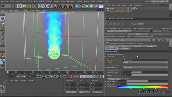 Viewing channels and shaders in the viewport: TurbulenceFD for CINEMA 4D Essential Training