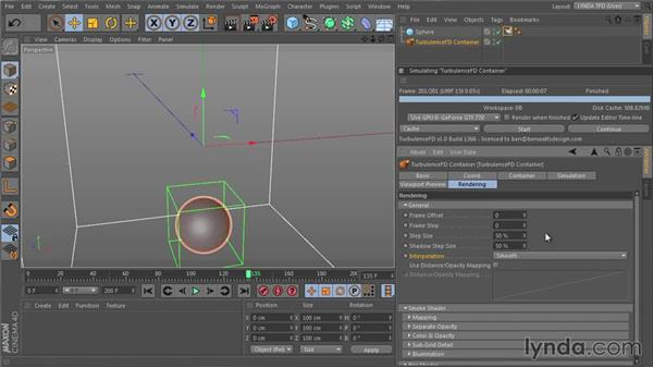 Retiming the simulation: TurbulenceFD for CINEMA 4D Essential Training