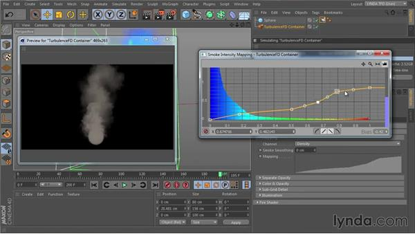 Developing the look of smoke with the Smoke shader: Part one: TurbulenceFD for CINEMA 4D Essential Training