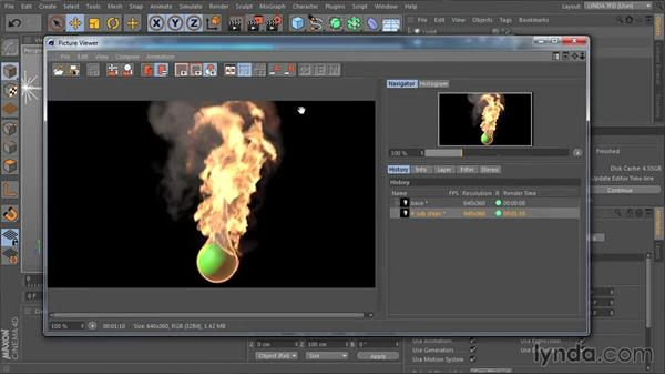 How to apply fluid motion blur: TurbulenceFD for CINEMA 4D Essential Training