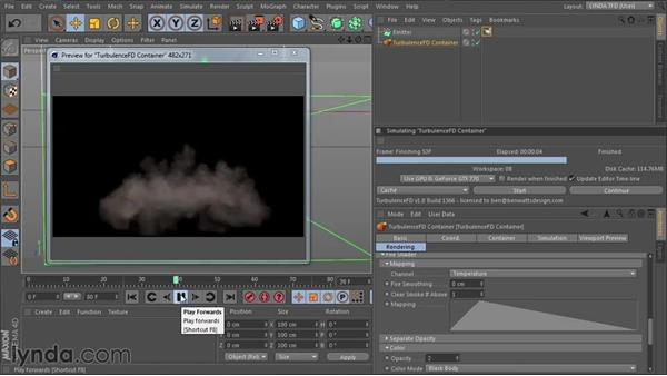 Setting up the channels and forces: TurbulenceFD for CINEMA 4D Essential Training