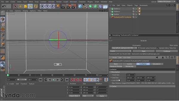 Developing the Smoke and Fire shader: TurbulenceFD for CINEMA 4D Essential Training