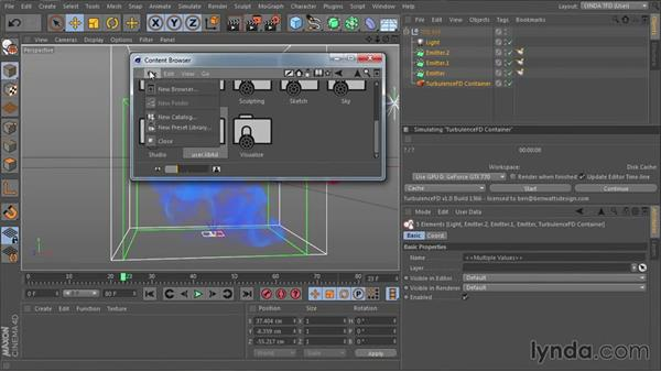 Creating presets from simulations and rendering