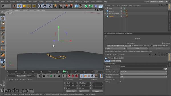 Preparing the scene for simulation: TurbulenceFD for CINEMA 4D Essential Training