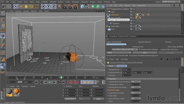 Setting up the emitters and rendering: TurbulenceFD for CINEMA 4D Essential Training
