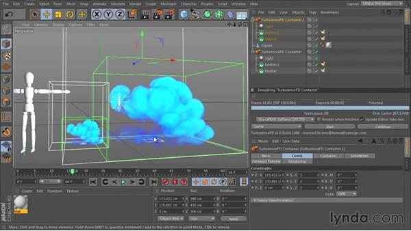 Creating the container and choosing scene scale: TurbulenceFD for CINEMA 4D Essential Training